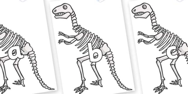 Phase 2 Phonemes on Dinosaur Skeletons - Phonemes, phoneme, Phase 2, Phase two, Foundation, Literacy, Letters and Sounds, DfES, display