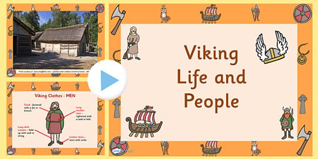 Viking Life and People PowerPoint - vikings, the vikings, viking