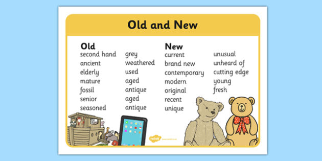 Old and New Word Synonyms Mat - old, new, synonyms, word mat, word, mat