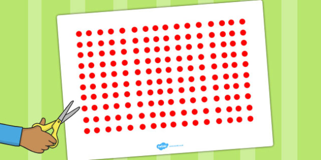 Red Dots Cut Outs - dot, visual, posters, displays, display