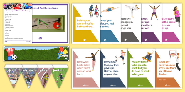 Sports Wall Resource Pack - Wall Displays, Create, Reminiscence, Ideas, Elderly Care, Dementia, Care Homes, Support, Activity Co