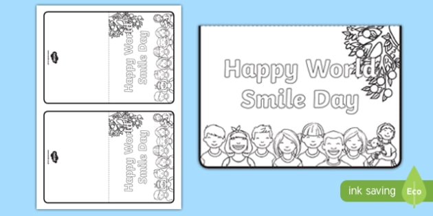World Smile Day Greetings Cards Activity
