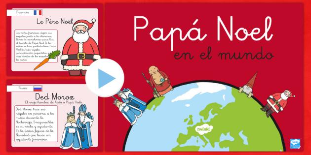 Presentación: Papa Noel en el mundo -Spanish - otros paises, otras culturas, tradiciones, navideño, navidad,Spanish - otros paises, otras culturas, tradiciones, navideño, navidad,Spanish