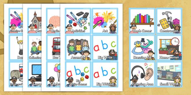 Pirate Themed KS1 Visual Timetable - pirate, KS1, timetable
