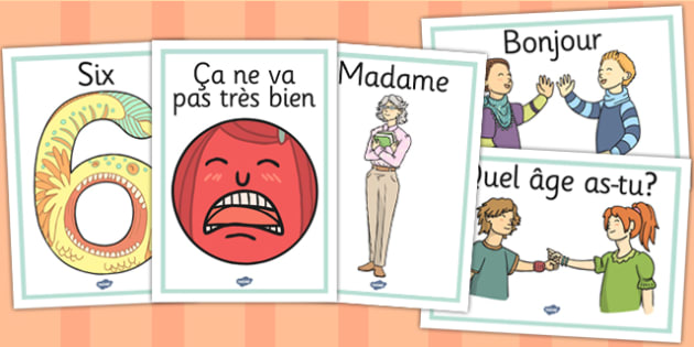 French Year 3 Getting to Know You Display Posters - french, 3