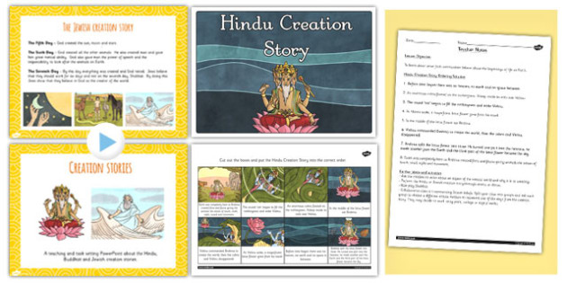 Buddhist Jewish and Hindu Creation Stories Lesson Teaching Pack