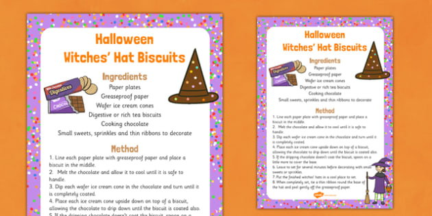 Halloween Witches Hat Biscuits Recipe - halloween, witches hat, biscuits, recipe