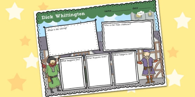 Dick Whittington Story Review Writing Frame - writing frame, topic