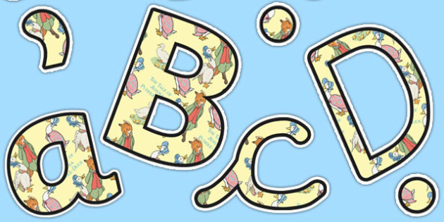 The Tale of Jemima Puddle Duck Themed A4 Display Lettering - jemima