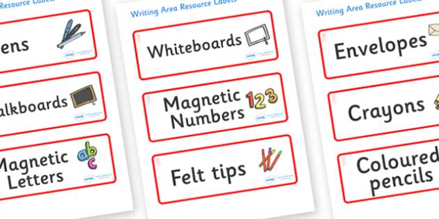 Jellyfish Themed Editable Writing Area Resource Labels - Themed writing resource labels, literacy area labels, writing area resources, Label template, Resource Label, Name Labels, Editable Labels, Drawer Labels, KS1 Labels, Foundation Labels, Foundat