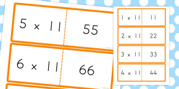 11 Times Table Cards - australia, times table, times tables, cards, 11, times