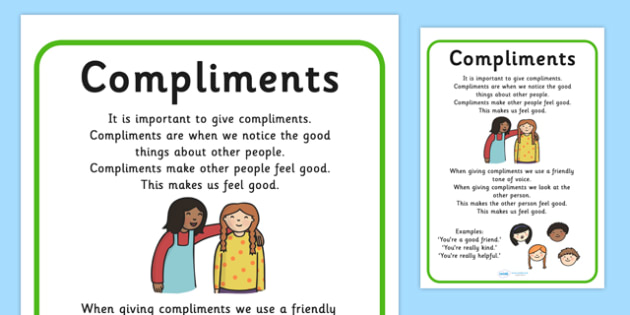 Compliments Support - making friends, communication, SEN, support
