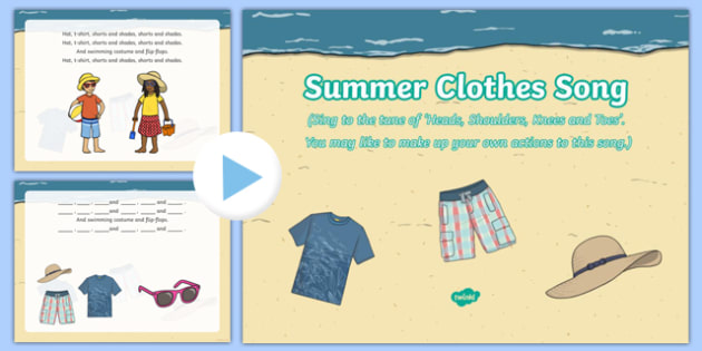 Summer Clothes Song PowerPoint