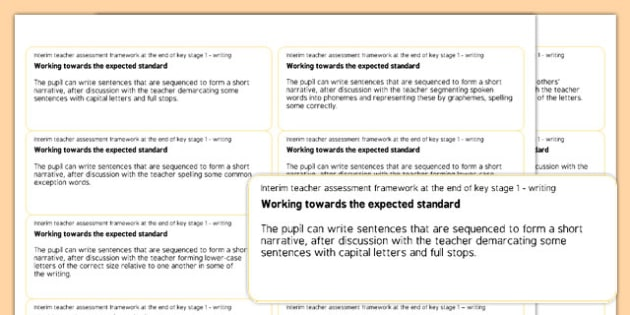 End of Key Stage 1 English Writing Objectives Sticker Templates - end of ks1, key stage 1, english, writing, objectives, sticker templates, sticker, templates