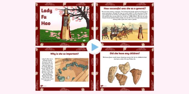 Lady Fu Hao PowerPoint - lady fu hao, powerpoint, history, shang