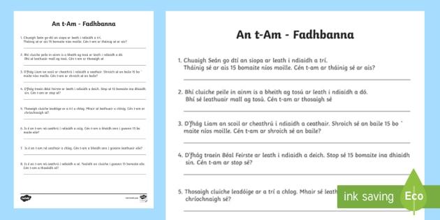 An Clog Analóg - Fadhbanna - An t-am, fadhbanna, a chlog, leath i ndiaidh, ceathrú i ndiaidh, ceathrú go dtí.