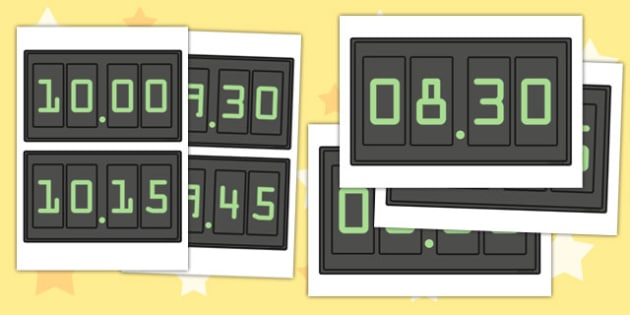 Analogue Time Display Posters 15 Minute Intervals - clock, numbers, to , past, quarter to, quarter past, fifteen, minutes, display, information, visual aid