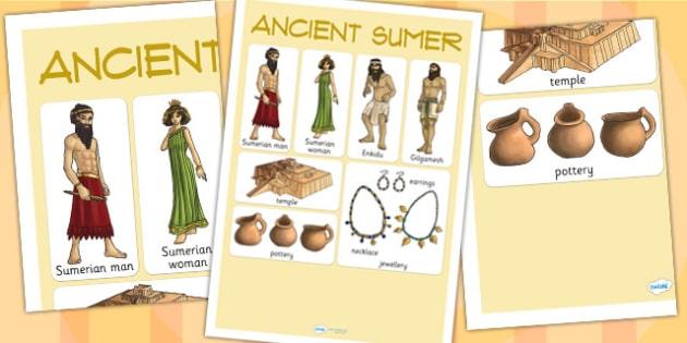 Ancient Sumer Vocabulary Mat - sumer, history, mesopotamia, mat