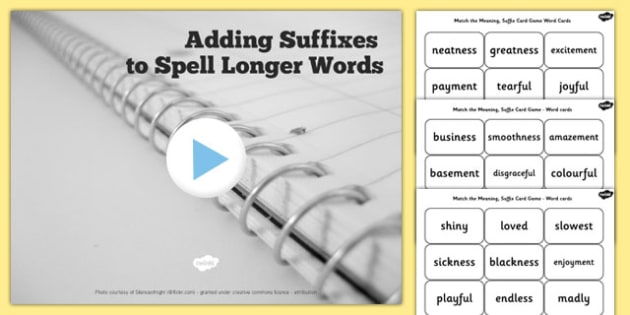 Year 2 Adding Suffixes to Spell Longer Words SpaG PowerPoint