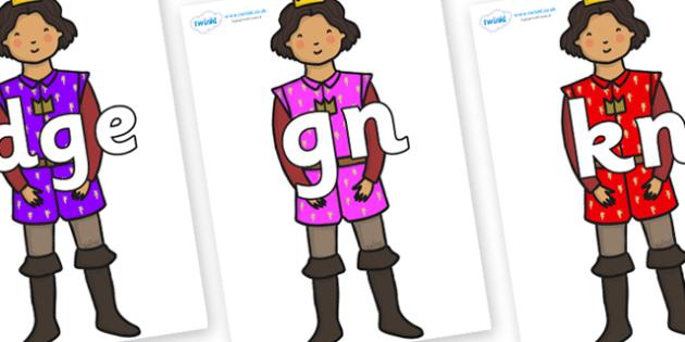 Silent Letters on Princes - Silent Letters, silent letter, letter blend, consonant, consonants, digraph, trigraph, A-Z letters, literacy, alphabet, letters, alternative sounds