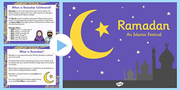 Ramadan Information PowerPoint - ramadan, islam, information