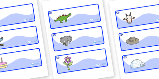 Scotland Themed Editable Drawer-Peg-Name Labels - Themed Classroom Label Templates, Resource Labels, Name Labels, Editable Labels, Drawer Labels, Coat Peg Labels, Peg Label, KS1 Labels, Foundation Labels, Foundation Stage Labels, Teaching Labels