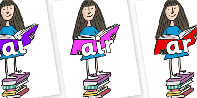 Phase 3 Phonemes on Matilda to Support Teaching on Matilda - Phonemes, phoneme, Phase 3, Phase three, Foundation, Literacy, Letters and Sounds, DfES, display
