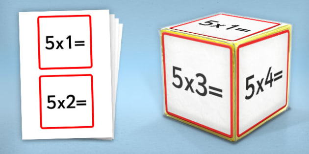 Giant Foam Dice Squares 5 Times Tables - foam dice, squares, 5