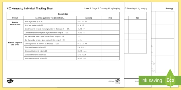 Stage 3 Numeracy Individual Assessment Checklist - New Zealand Planning and Assessment, numeracy, mathematics, stage 3, student agency, student profile