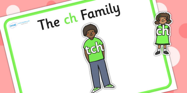 Ch Sound Family Cut Outs - sound families, sounds, cutouts, cut