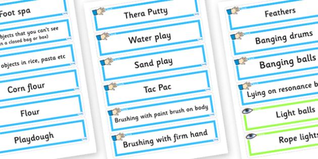 Sensory Activity Cards - sensory resource ideas, sensory activity ideas, sensory activities, sensory activity idea cards, sen activity ideas, lesson ideas