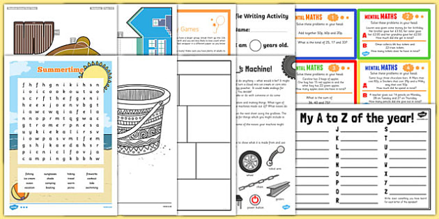 Top 10 KS2 End of Term Activity Pack - KS2 Transition Day Ideas