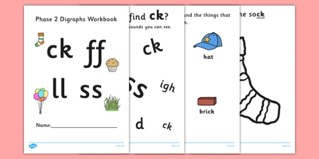Phase 2 Digraph Workbook - phase 2, digraph, workbook, phase, activities