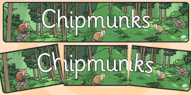 Chipmunks Display Banner - chipmunks, display banner, display, banner