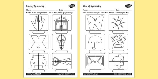 Line of Symmetry Worksheet - Mirror Symmetry Activity