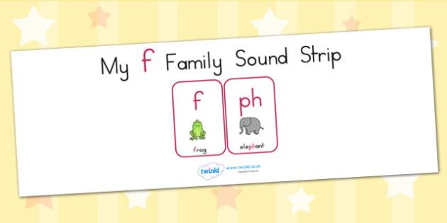 My F Family Sound Strip - sound family, visual aid, literacy