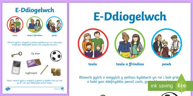 Preifatrwydd E Ddiogelwch Taflen Weithgaredd - E-Ddiogelwch, Cyfnod Sylfaen, Fframwaith Cymhwysedd digidol, Cyfrifiaduron, Welsh, e-ddogelwch, eddiogelwch, diwrnod e-ddiogelwch, diwrnod eddiogelwch, diogelwch ar y we,  Internet Safety, internet safet