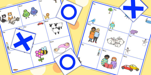 Near And Far Noughts And Crosses Game - positional language, SEN