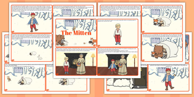 The Mitten Story Cards - the mitten, story, cards, story cards