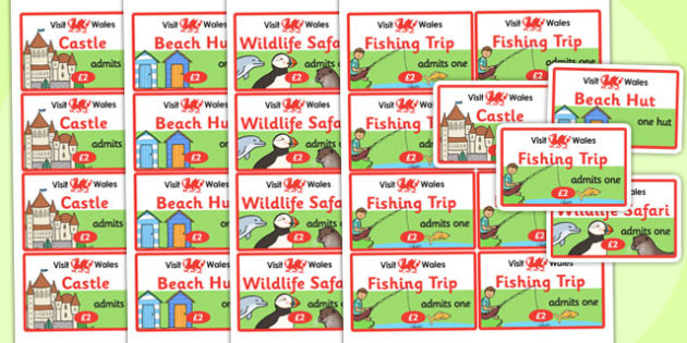 Wales Tourist Information Role Play Tickets - roleplay, ticket