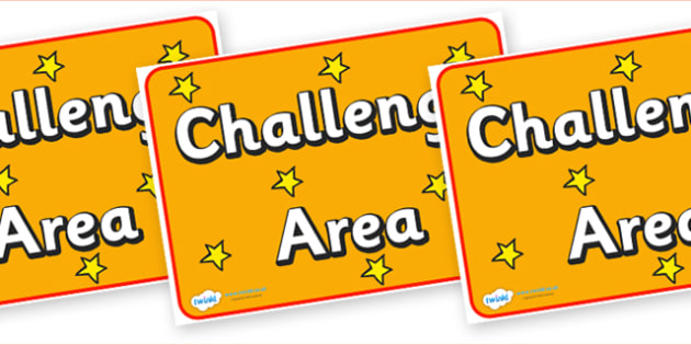 Challenge Area Display Poster - challenge area, display poster, display, poster