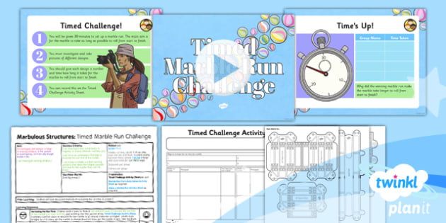 DT: Marbulous Structures: Timed Marble Run Challenge UKS2 Lesson Pack 4