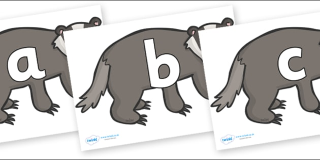 Phoneme Set on Badgers - Phoneme set, phonemes, phoneme, Letters and Sounds, DfES, display, Phase 1, Phase 2, Phase 3, Phase 5, Foundation, Literacy
