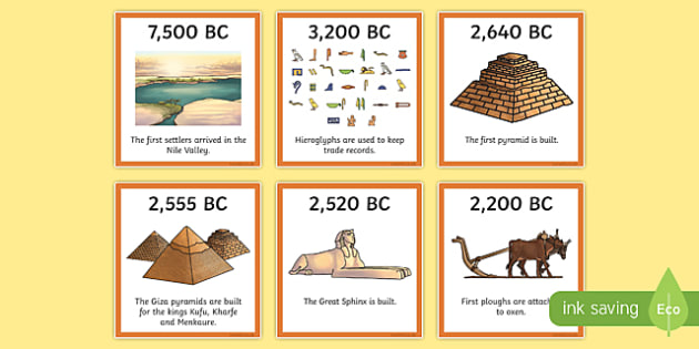 Ancient Egypt Timeline Ordering Activity - egyptians, order