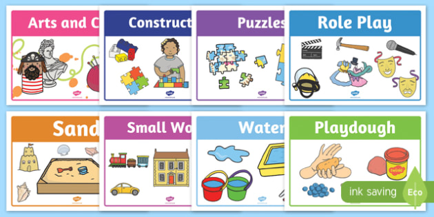 Play Stations for Aistear Early Childhood Curriculum - signs, display, irish, ireland, role play, activities, areas, classroom, class, messy, independent, fun, games,