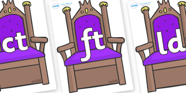 Final Letter Blends on Thrones - Final Letters, final letter, letter blend, letter blends, consonant, consonants, digraph, trigraph, literacy, alphabet, letters, foundation stage literacy