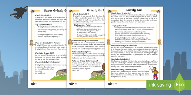 Grizzly Girl: A Superhero Differentiated Fact File