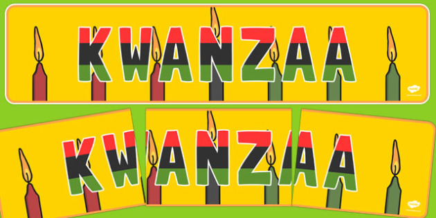 Kwanzaa Display Banner - usa, us, america, kwanzaa, display banner, display, banner