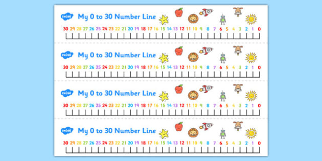 Left Handed Number Line 0-30 - left handed, number line, 0-30, number, line, numeracy
