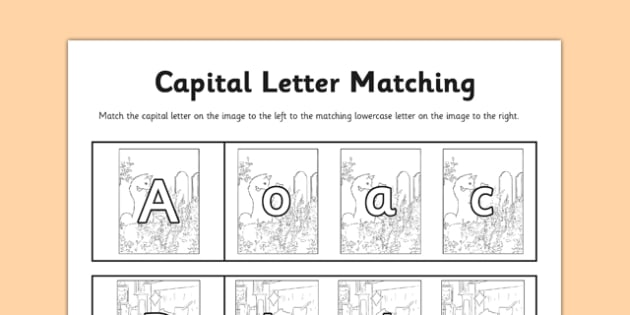 Beatrix Potter - The Tale of the Pie and the Patty-Pan Themed Capital Letter Matching Activity - beatrix potter, pie, patty pan, capital letter matching